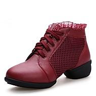 Kadın Dans Sneakerları Tüylü Spor Ayakkabı Dış Mekan Düşük Topuk Beyaz Siyah Kırmzı 2,5 - 3,6 cm