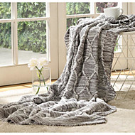 Strikket Solid Bomull/Polyester tepper