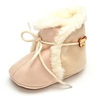 Baby Platte schoenen Comfortabel Modieuze laarzen Weefsel Herfst Winter Bruiloft Causaal Formeel Feesten & Uitgaan Veters Platte hak Beige
