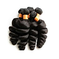 Toptan gevşek dalga 1kg 10pcs çok 10a brazilian bakire saç paketleri doğal siyah renk işlenmemiş insan saç malzemeleri yumuşak ve pürüzsüz