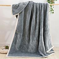 フランネル 純色 コットン100% 毛布