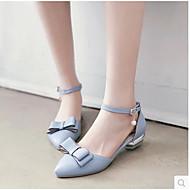 Damen Schuhe PU Sommer Komfort Flache Schuhe Mit Für Normal Weiß Blau Leicht Rosa