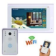 720p 7 tft проводной / беспроводной wifi ip видео домофон домофон домофон с 1000tvl проводной камерой ночного видения