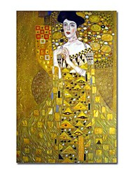 "Handmade Oil Painting Portrait of Adele Bloch - Bauer by Gustav Klimt 36"" x 24""Stretched Ready to Hang (SZH162)"