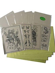 10 x TATTOO PRACTICE SKINs and 100 x TRANSFER PAPER