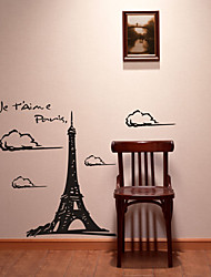 Eiffel Tower Wall Stickers (0565-gz062)
