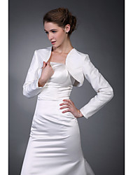Long Sleeves Taffeta  Satin Bridal Jacket / Wedding Wrap (WSM0411)