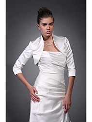 3/4-Length Sleeves Satin Bridal Jacket / Wedding Wrap (WSM0420)