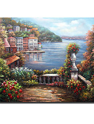 Stretched Hand Made landscape Painting - Free Shipping (0695 -LA-80)