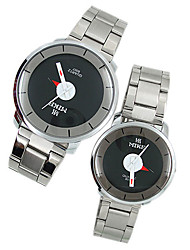 MIKE Japnese Quartz Movement Round Case Couple His-and-hers Watches