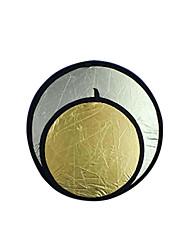 """43 """"110cm or / argent 2 en 1 disque réflecteur repliables (cca299)"""