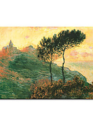 Hand-painted Oil Painting The Church at Varengeville c.1882 Claude Monet with Stretched Frame