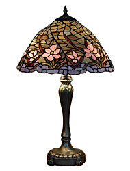Tiffany-style Pink Floral Table Lamp(0923-T42)