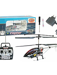 3CH RC Hubschrauber mit Gyro LED-Licht Funkfernsteuerung Hubschrauber Indoor-Spielzeug (schwarz) (yx02680k)