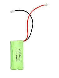 interface universal 2.4v 800mah bateria Ni-MH para telefone sem fio (Ni-MH (2.4V 800))