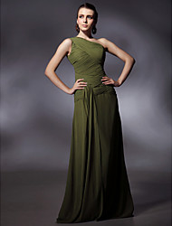 Clearance!Chiffon Sheath/ Column One Shoulder Floor-length Evening Dress inspired by Sigourney Weaver at Golden Globe