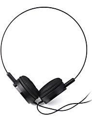 cuffie da 3,5 mm sopra dell'orecchio audio leggero per pc / telefono (nero)