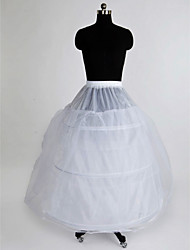 Slips Ball Gown Slip Floor-length 3 Nylon Tulle Netting White