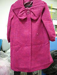 синяя плиссированная лацкане половина рукава пальто / женщин outerwears (FF--bk0997106)