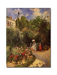 tendu la main sur le jardin à la peinture de Camille Pissarro de Pontoise (0192-ycf103902)