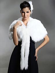 Faux Fur Bridal Special Occasion/ Wedding Shawl