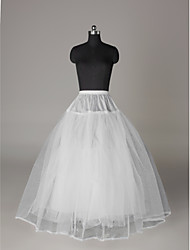 Slips A-Line Slip Ball Gown Slip Floor-length 3 Nylon Tulle Netting White