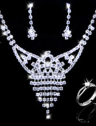 Gorgeous Alloy With Rhinestones Wedding Bridal Jewelry Set(0986-L20111211494)