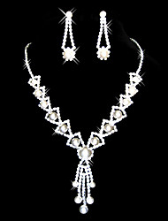 Czech Rhinestones In Alloy Bridal Necklace And Earring Set