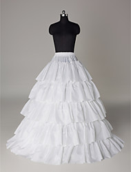 Nylon A-Line Full Gown 5 Tier Floor-length Slip Style/ Wedding Petticoats