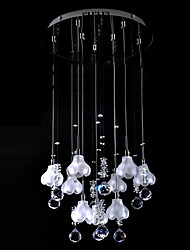 CALNE - Lustre Mini Cristal - 9 slots à ampoule