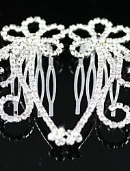 Capacete Pentes de Cabelo Casamento/Ocasião Especial Liga Mulheres Casamento/Ocasião Especial