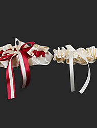 Garter Satin Ribbon Red