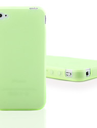 Custodia fluorescente in silicone per iPhone 4 - Verde