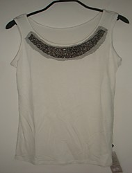 Jewel and Net Embellished Tank Top