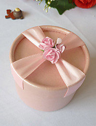 Pink Favor Box With Ribbon Cross (Set of 12)