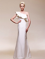 TS Couture® Military Ball Dress - Ivory Plus Sizes / Petite Sheath/Column One Shoulder Floor-length Taffeta
