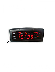 Red LED Digital Alarm Clock Calendar Thermometer (220V)