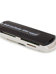 Multi Function Card Reader For SD/ M3/ Mini SD/ TF(Black)
