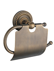 Antique Brass Wall-mounted Toilet Roll Holder