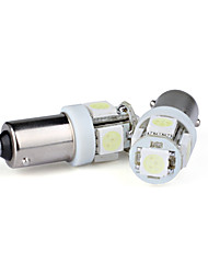 12v T11 BA9S 5050 SMD 5 ampoules led voiture (blanc)
