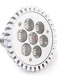 Focos LED PAR30 E26/E27 7W 7 LED de Alta Potencia 680 LM Blanco Cálido AC 85-265 V