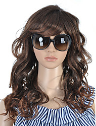 Capless Long High Quality Synthetic Nature Look Brown Curly Hair Wig