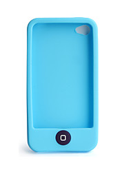 Chocolate Bean Silicon Case for iPhone 4 (Blue)