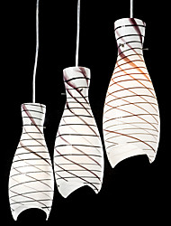 60W Fish Scale Pendant Light with 3 Lights