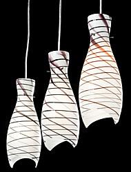 60w рыбьей чешуи подвесной светильник с 3 огнями