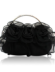 Silk Shell With Flower Evening Handbags/ Clutches/ Top Handle Bags More Colors Available