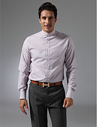 Mandarin Collar Plain Fly Front Shirt
