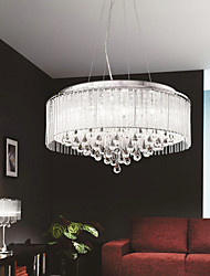 Max 40W Modern/Contemporary / Drum Crystal / Bulb Included Chrome Pendant Lights Living Room / Bedroom / Dining Room