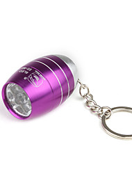 Barrel Shape 6pcs Superbright LED Flashlight KeyChain Unique Design Purple