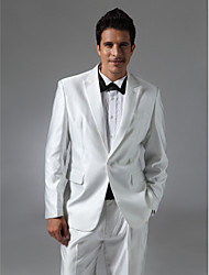 Single Breasted One-button Peak Lapel Side-vented Groom Tuxedo